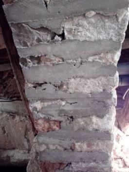 photo 17 : Mortier à l'intrados après décintrage (non piqué).