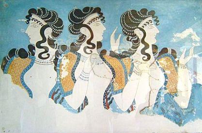Les dames en bleu Cnossos